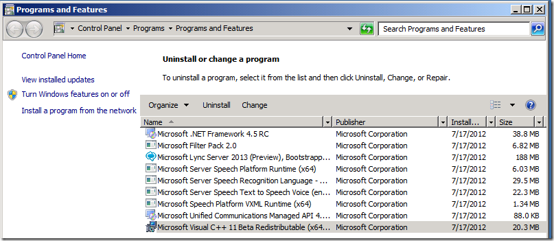 Installing Exchange 2013 Preview on Windows Server 2008 R2 Sp1