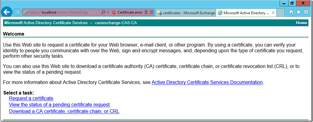 how to install certificate authority on windows server 2012