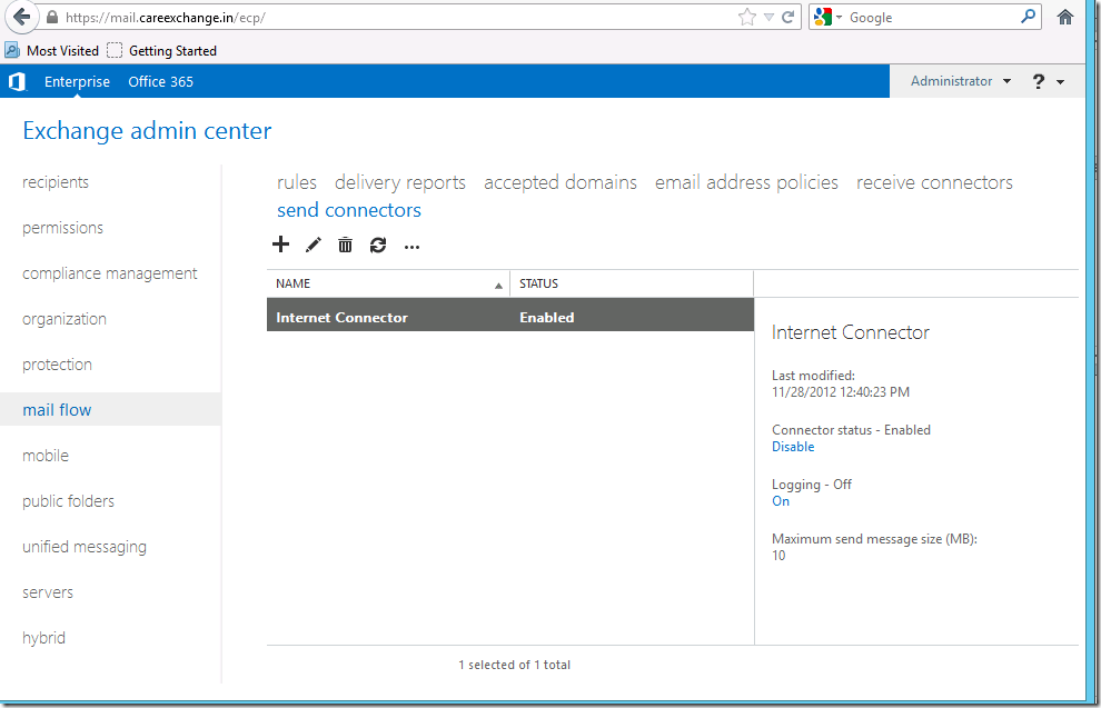 How to Create a Send Connector in Exchange 2013