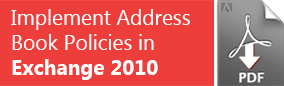 Implement Address Book Policies in Exchange 2010