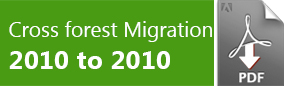 Crossforest migration Guide Exchange 2010 to Exchange 2010