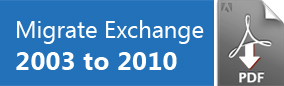 Migrate Exchange 2003 to 2010
