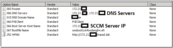 Enabling DHCP Scope to Boot on UEFI for Imaging