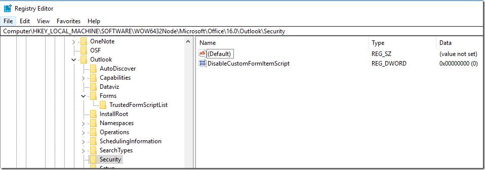 Enterprise vault | Custom Form Script is now disabled by default