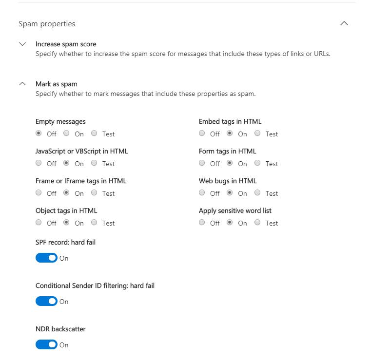 Optimize Antispam Settings in Office 365