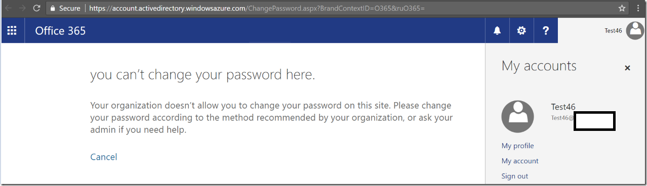 Enable Password Write back on existing Azure AD Connect