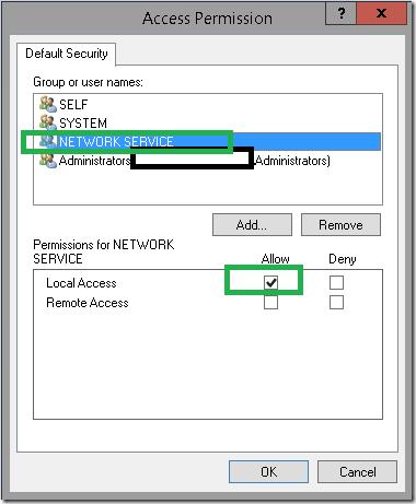 VssWriterCallback interface 0x80070005 - Access is denied