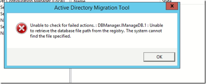 Moving users using ADMT 3 2 in Windows Server 2012 R2