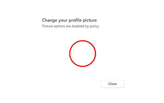Disable Changing Picture in Teams
